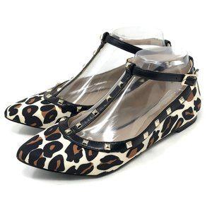 BCBGeneration Womens Annia Leopard Ballet Flat